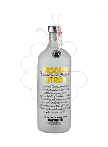 Foto Vodka Absolut Citron