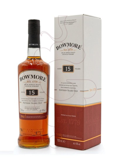 Foto Whisky Bowmore Darkest 15 Anys