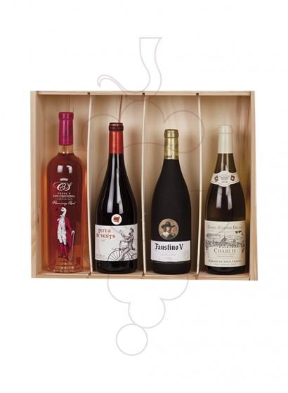 Foto Caixes Nadal Pack 4 Ampolles de Vi Internacional