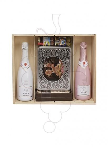 Foto Caixes Nadal Pack 2 Ampolles de Cava + Assortiment Nadal