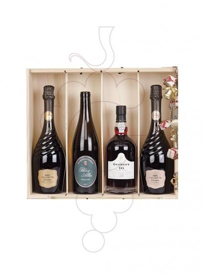 Foto Caixes Nadal Pack 4 Ampolles Variades + Foie DELPEYRAT