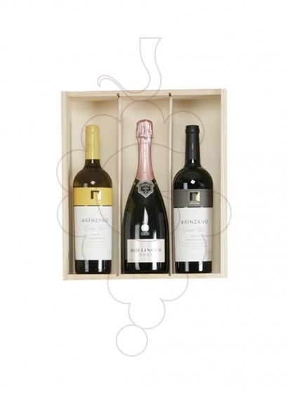 Foto Caixes Nadal Pack TOP: 2 Ampolles de Vi + Xampany