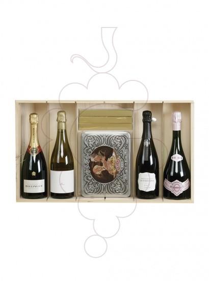 Foto Caixes Nadal PACK TOP: 2 Ampolles de Vi + 2 Ampolles Xampany