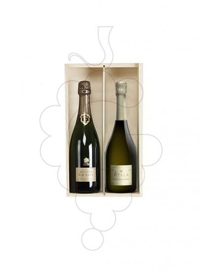 Foto Caixes Nadal Pack 2 Ampolles vi + Assortiments + Pernil 5J (Jabugo) 5kg