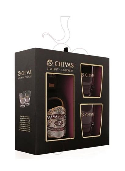 Foto Caixes regal Chivas 12 Anys Pack (1 u + 2 gots)