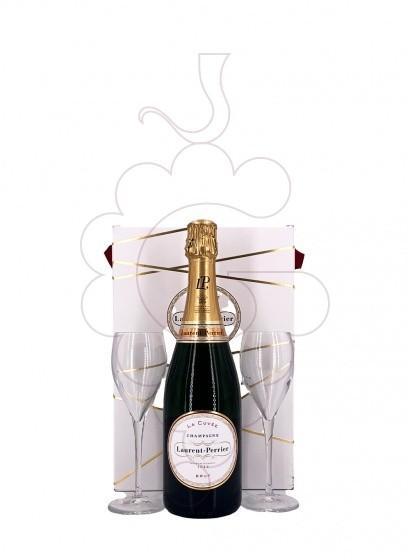 Foto Caixes regal Laurent Perrier Brut Pack (1 u + 2 copes)