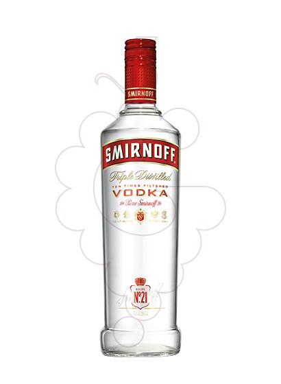 Foto Vodka Smirnoff Etiqueta Vermella
